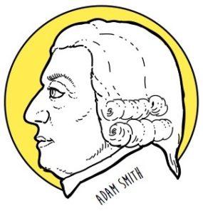 Ritratto di Adam Smith - Costantino Rover© per il libro di economia spiegata facile