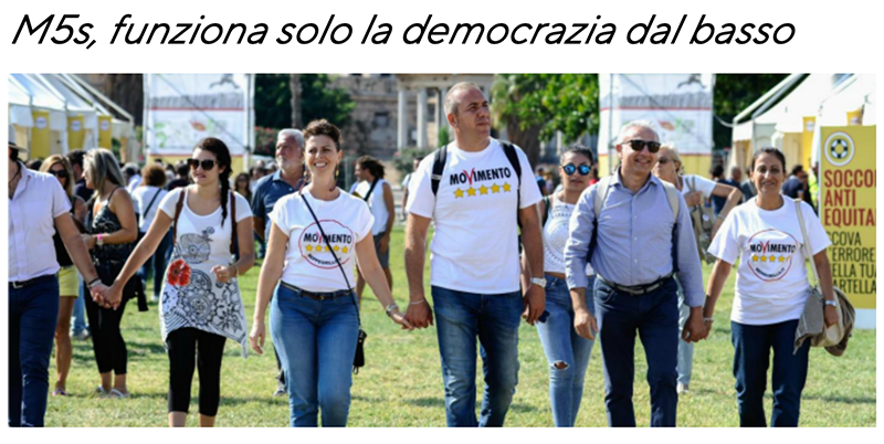 M5S democrazia dal basso