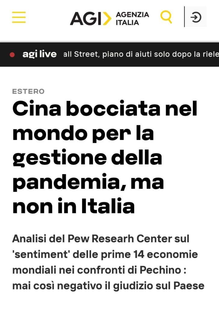 Il mondo boccia la Cina, l'Italia no