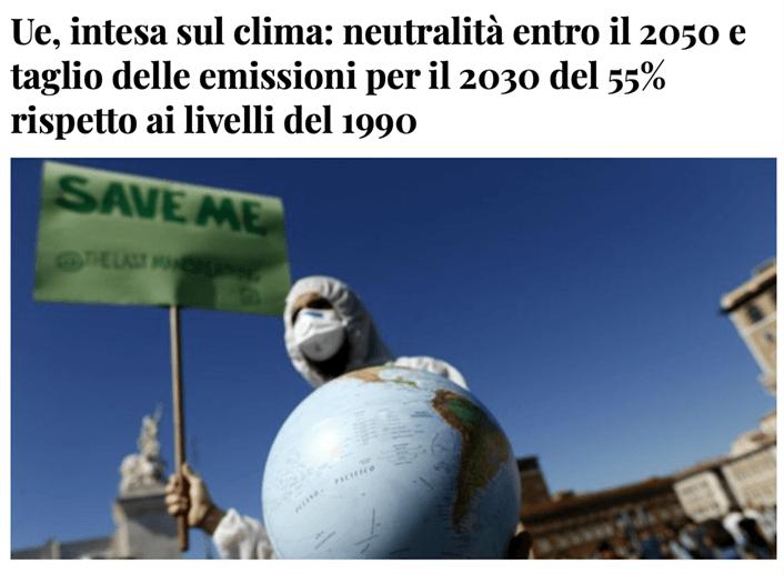 UE, intesa sul clima